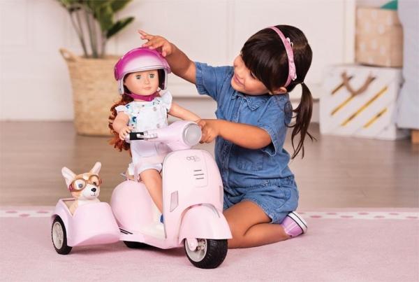 Скутер с боковой корзиной