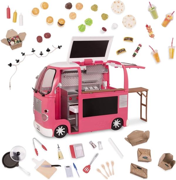Our Generation Транспорт для ляльок – Продуктовий фургон (рожевий)