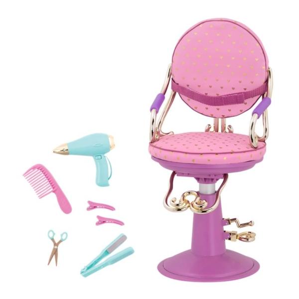 Our Generation Набор аксессуаров — Кресло для салона фиолетовое