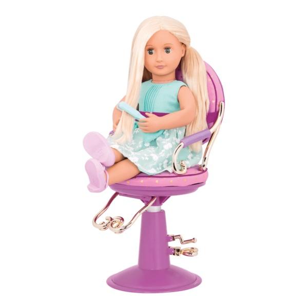 Our Generation Набор аксессуаров – Кресло для салона фиолетовое